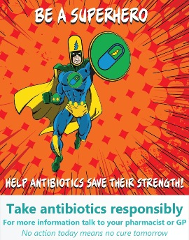 Antibiotic superhero